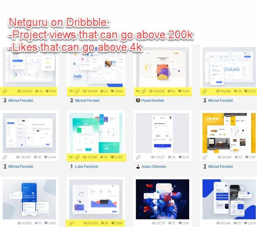Dribbble profile for Netguru