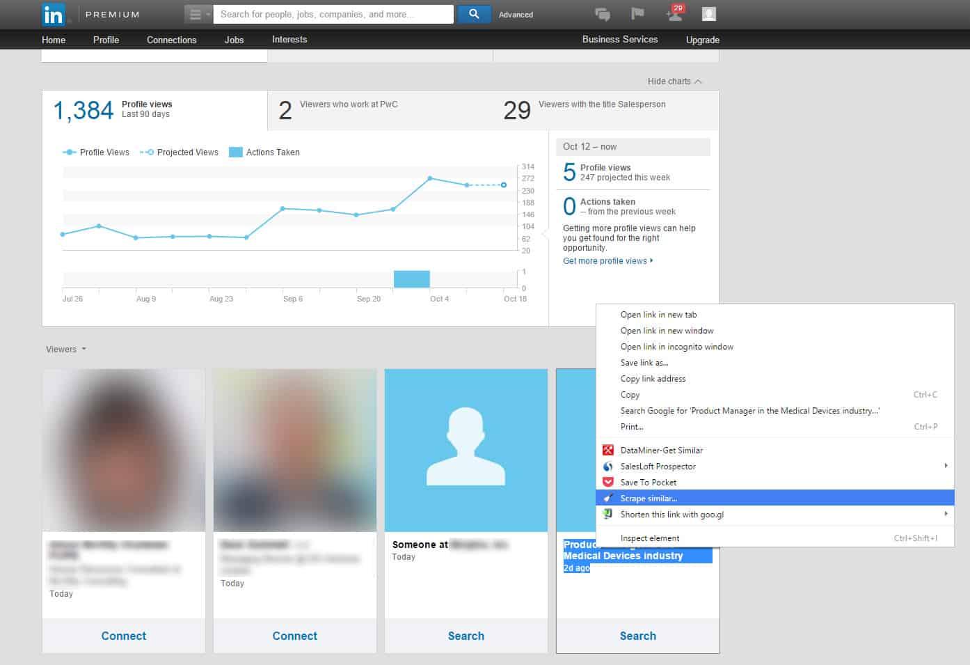 Linkedin B2B lead generation