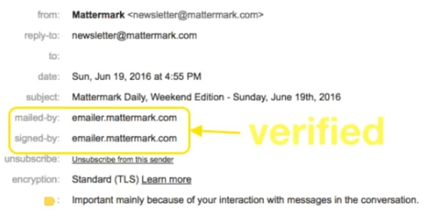 verified sender