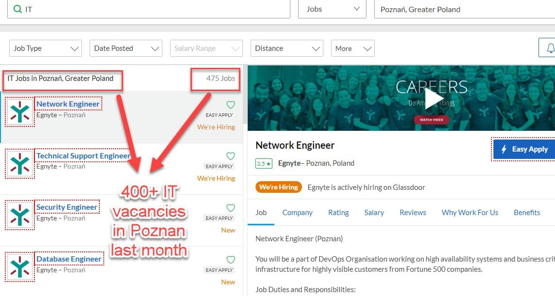 Poznan IT jobs available