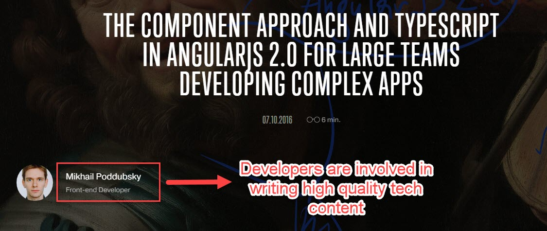 Developers write content at Agile Engine