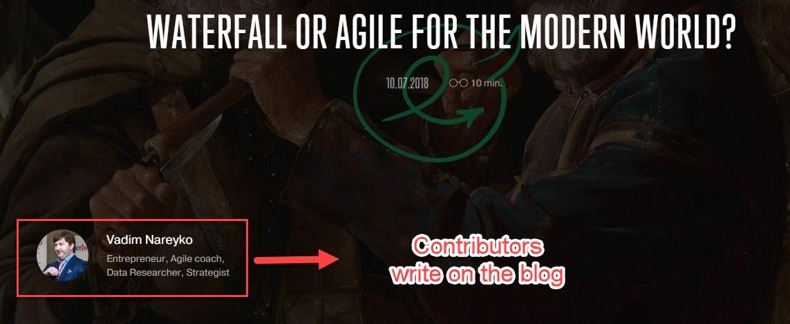Contributors write for Agile Engine