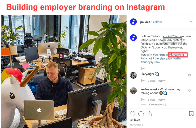 instagram employer branding