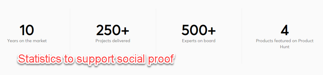 Stats for social proof
